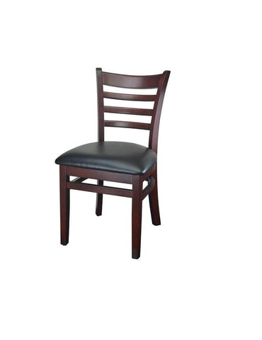 DHC 245-MAH Mahogany Finish, Ladder Back Wood Dining Chair