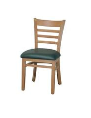 DHC 245-NAT Natural Finish, Ladder Back Wood Dining Chair