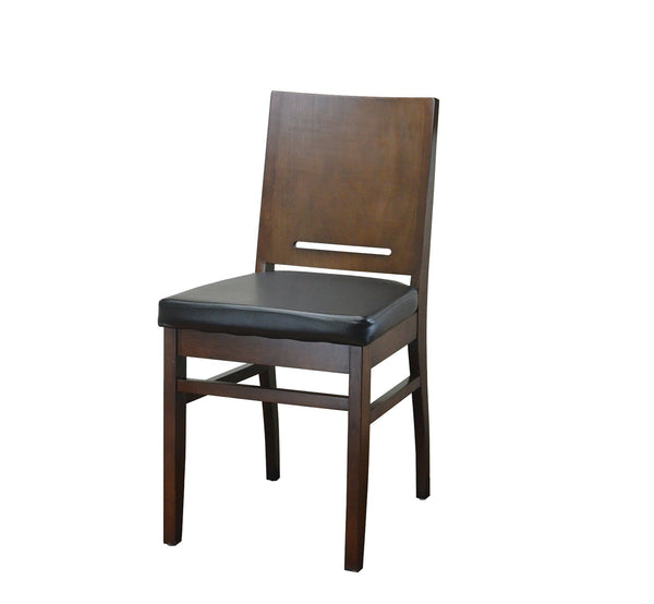 DHC 249-WAL Walnut Finish, Square Back Wood Dining Chair