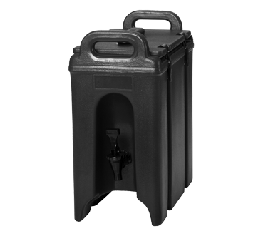 Cambro 250LCD131 Camtainer Beverage Carrier, 2-1/2 gallon, 9W x 16-1/2D x 18-3/8H, insulated plastic, dark brown, NSF