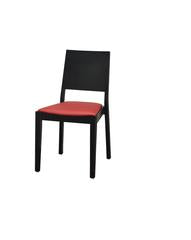 DHC 251-BLK Black Modern Style Stacking Wood Dining Chair