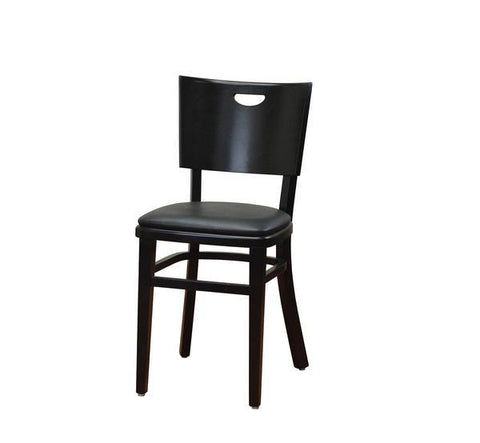 DHC 252-BLK Black Finish, Curved Back, Wood Restaurant Chair