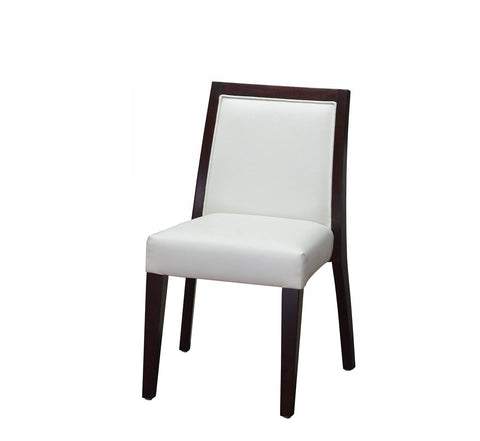 DHC 253-MAH Mahogany Fully Upholstered Square Back Dining Chair