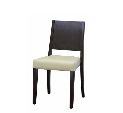 DHC 255 Walnut Square Back Restaurant Wood Chair
