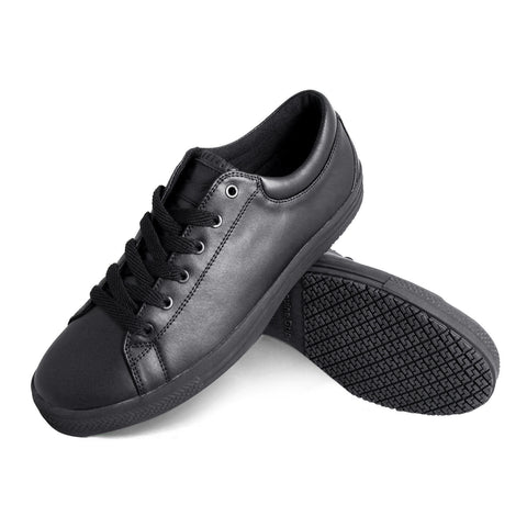Genuine Grip 2070 Men's Retro Lace-Up, Slip Resistant Work Shoes, Black