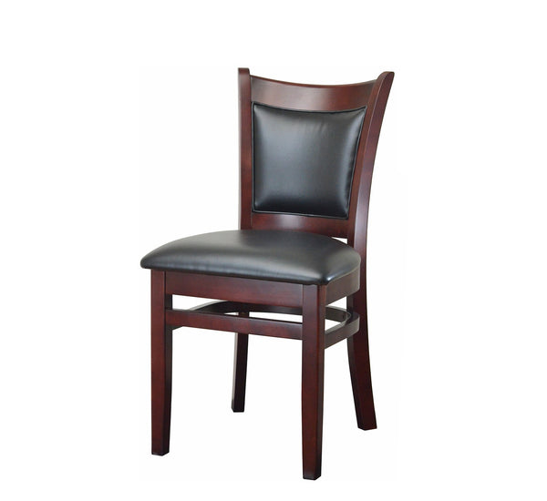DHC 279-MAH Mahogany Upholstered Back Dining Chair