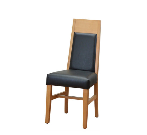 DHC 281-NAT Natural Finish High Back Dining Chair