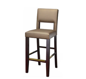 DHC 288B-MAH Gold Fully Upholstered Wood Barstool