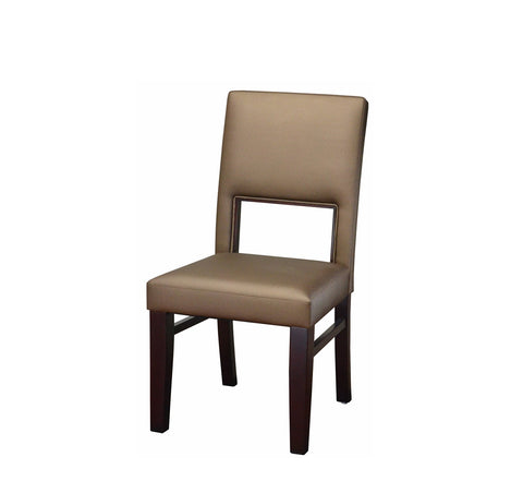 DHC 288-MAH Gold Fully Upholstered Wood Restaurant Chair