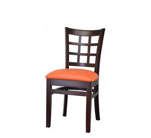 DHC 290-MAH Mahogany Window Back Wood Dining Chair