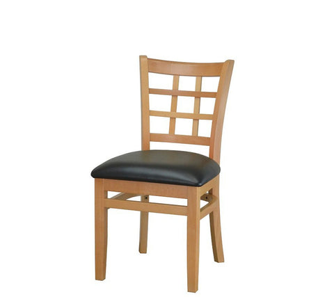DHC 290-NAT Natural Window Back Dining Chair