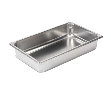 "Vollrath 30042 Super Pan V® Food Pan, full size, 4"" deep, 14 qt capacity, 22 gauge, 300 series stainless steel, NSF, Made in USA, Limited Lifetime Warranty"