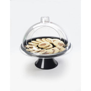 "Cal-Mil 301-12 Turn N Serve Gourmet Cover, 12"" dia x 5 1/2"" H, dome style, acrylic clear, BPA Free"