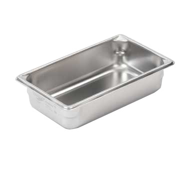 "Vollrath 30342 Super Pan V® (1/3 Size) Food Pan - 4"" Deep, Stainless Steel"