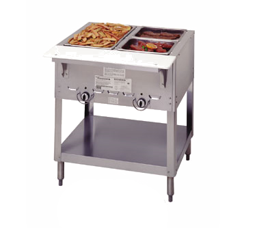 "Duke 303 Aerohot Steamtable Hot Food Unit, 44-3/8""L, gas, (3) 12"" x 20"" hot food wells with adjustable gas valve controls with adjustable pilot light, UL EPH Classified, CSA Star"