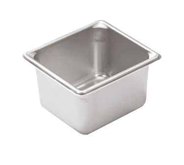 "Vollrath 30642 Super Pan V® (1/6 Size) Food Pan - 4"" Deep, Stainless Steel"