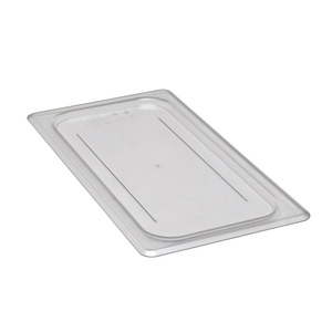 Cambro 30CWC135 Camwear Food Pan Cover, 1/3 size, flat, polycarbonate, clear, NSF