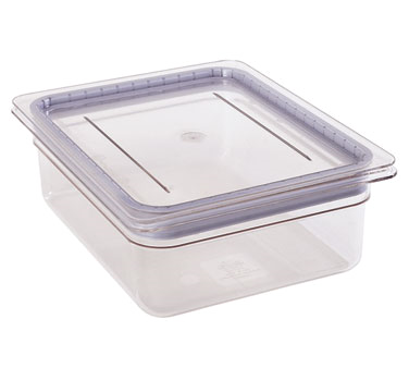 Cambro 30CWGL135 GripLid, fits GN 1/3 size food pan, 6-15/16 x 12-3/4, corner lift, dishwasher safe, stackable, molded in polyurethane gasket, polycarbonate, clear, FDA approved materials, NSF