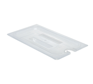Cambro 30PPCHN190 Food Pan Cover, 1/3 size, notched, with handle, polypropylene, translucent, NSF