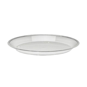 "Cal-Mil 315-12-12 Turn N Serve Shallow Tray, 12"" dia x 1"" D, round acrylic, clear, BPA Free"