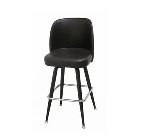 DHC 3307B Steel Swivel Barstool, Black Finish