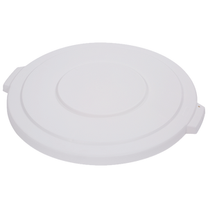 "Carlisle 34103302 Bronco™ Waste Container Lid, round, 2-1/8""H x 22.5"" dia., for 32 gallon container, polyethylene, white, NSF"