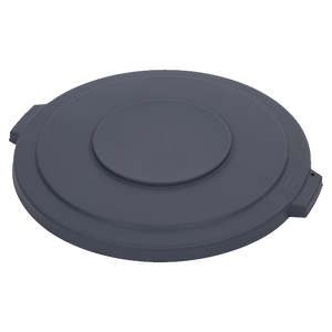 "Carlisle 34103323 Bronco™ Waste Container Lid, round, 2-1/8""H x 22.5"" dia., for 32 gallon container, polyethylene, gray, NSF"