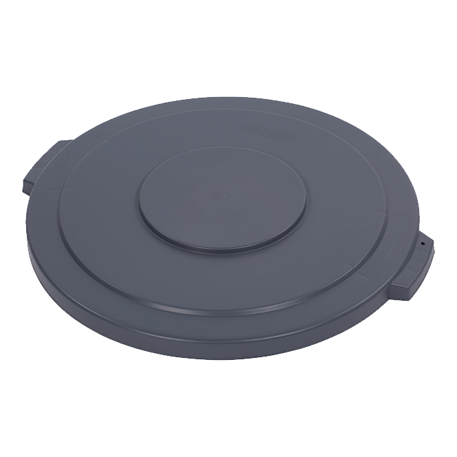 "Carlisle 34104523 Bronco™ Waste Container Lid, round, 2-1/4""H x 26-7/8"" dia., for 44 gallon container, polyethylene, gray, NSF"