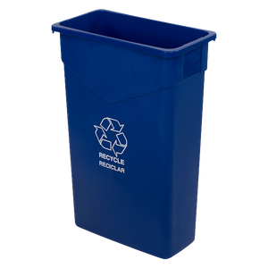 Carlisle 342023REC14 Trimline™ Recycle/Waste Container, 23 gallon, rectangular, heavy-duty, polyethylene, blue