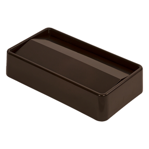 Carlisle 34202469 Trimline™ Swing Top Lid, rectangular, fits 15/23 gallon Trimline™ waste containers, ABS plastic, brown