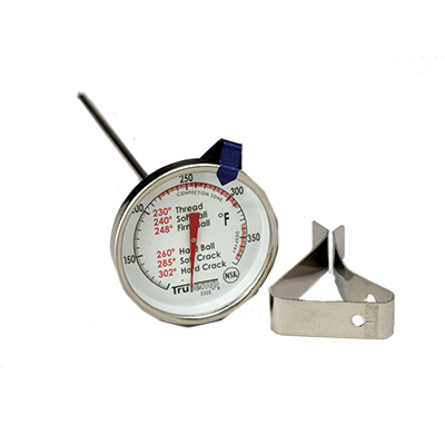 "Taylor 3505 Candy/Jelly/Deep Fry Thermometer, 2"" dial type with 6"" stem, -40° to 450°F"