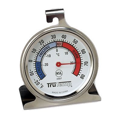 "Taylor 3507FS Refrigerator/Freezer Thermometer, 2-1/2"" dial, -20° to 80°F"