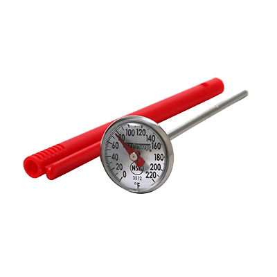 "Taylor 3512FS Instant Read Thermometer, 1"" dial, magnified lens, from 0° to 220°F"