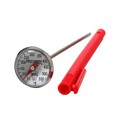 "Taylor 3517 Instant Read Thermometer, high temperature, 1"" dial, magnified lens, 50° to 550°F"