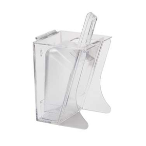 Cal-Mil 355 Scoop Holder Freestanding 32oz, Polycarbonate, Clear, NSF