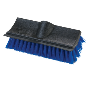 Carlisle 3619014 Flo-Pac® Dual Surface Floor Scrub Brush Head (only), molded-in rubber squeegee, blue, BPA Free