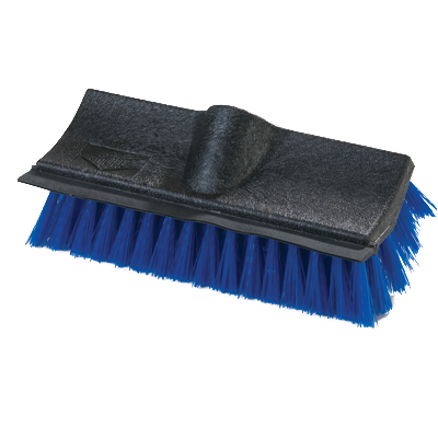 Carlisle 3619014 Flo-Pac Dual Surface Floor Scrub Brush Head (only), molded-in rubber squeegee, blue, BPA Free