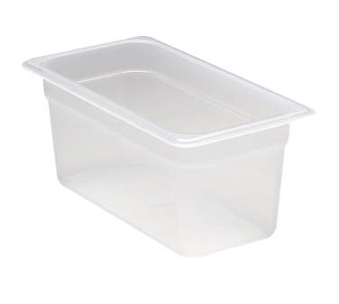 Cambro 36PP190 Food Pan, 1/3 size, 6 deep, polypropylene, translucent, NSF