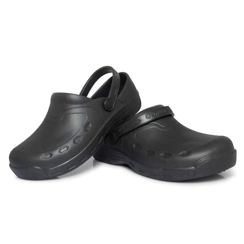Genuine Grip 3900 Men's Open Back Injection Clogs, Slip Resistant, Black