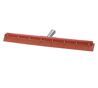 "Carlisle 4007500 Flo-Pac® Floor Squeegee Head (only), 18"" long, straight, medium flexibility, 1.13"" tapered handled hole, red powder coating finish, standard color (handle sold separately)"