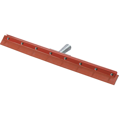 "Carlisle 4007600 Flo-Pac® Floor Squeegee Head (only), 24"" long, straight, medium flexibility, 1.13"" tapered handled hole, red powder coating finish"