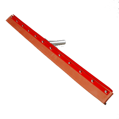 "Carlisle 4007700 Flo-Pac® Floor Squeegee Head (only), 36"" long, straight, medium flexibility, 1.13"" tapered handled hole, red powder coating finish, standard color (handle sold separately)"