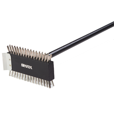 "Carlisle 4029000 Sparta® Broiler Master Brush, 30-1/2""L, treated wooden head, Made In USA"