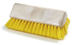 "Carlisle 4042304 Sparta® Hi-Lo Floor Brush Head (only), 10""L x 4-1/2""W, yellow"