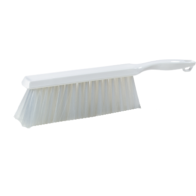 "Carlisle 4048002 Sparta® Spectrum® Counter/Bench Brush, 13"" long, 8""L x 2-1/2""H, plastic handle, white, BPA Free"