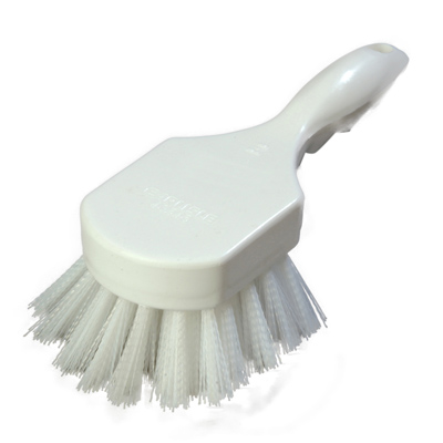 "Carlisle 4054602 Sparta® Kitchen Brush, 8""L x 3""W, buoyant, hanging hole, break-resistant, white, BPA Free"