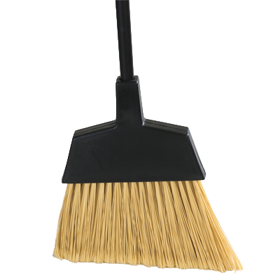 "Carlisle 4065000 Recycled Angle Broom, 48""L durable vinyl coated steel handle, 12"" wide head, standard color"