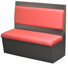 DHC BT-4071 Laminated Back Single Booth with Large Floating Pad & Cushion