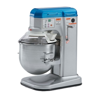 Vollrath 40756 Planetary Mixer, countertop, 10 quart, 5-speed direct drive transmission, digital timer with automatic stop, 1/3 HP, 110-120v/60/1-ph, 6 amp, cord with NEMA 5-15P, NSF, ETLus