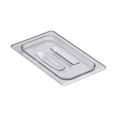 Cambro 40CWCH135 Camwear Food Pan Cover, 1/4 size, with handle, polycarbonate, clear, NSF